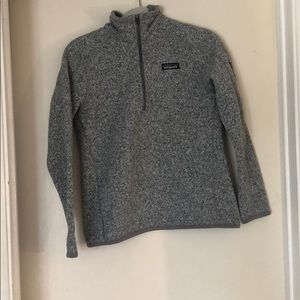 Patagonia light gray pullover